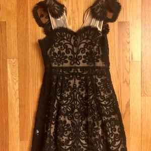 Anthropologie black lace dress!